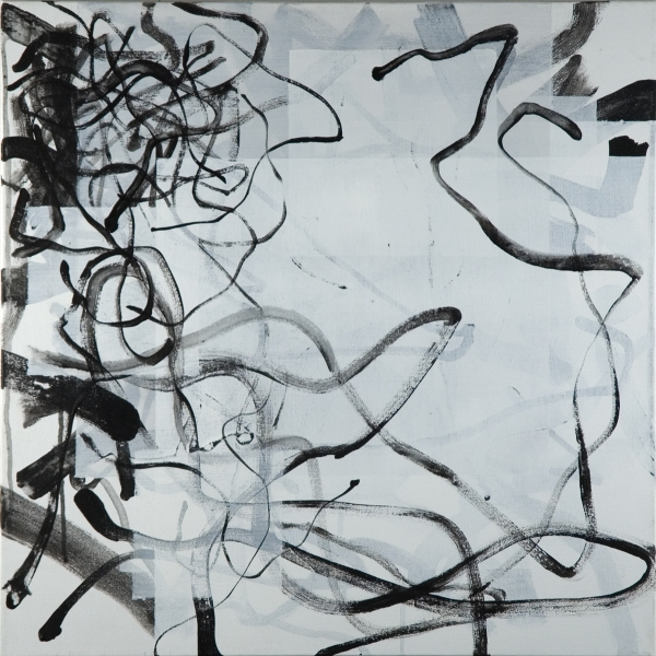 2009 Paper & Canvas Untitled (09a/c20x20wP/bL)