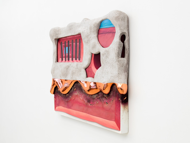 Steve DeFrank Current Work Casein, paper mache, copper chrome, wood panel