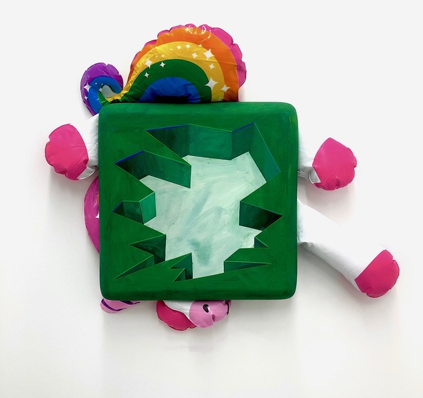 Steve DeFrank Current Work Casein, vinyl unicorn, polyfill, polymer clay , clayboard