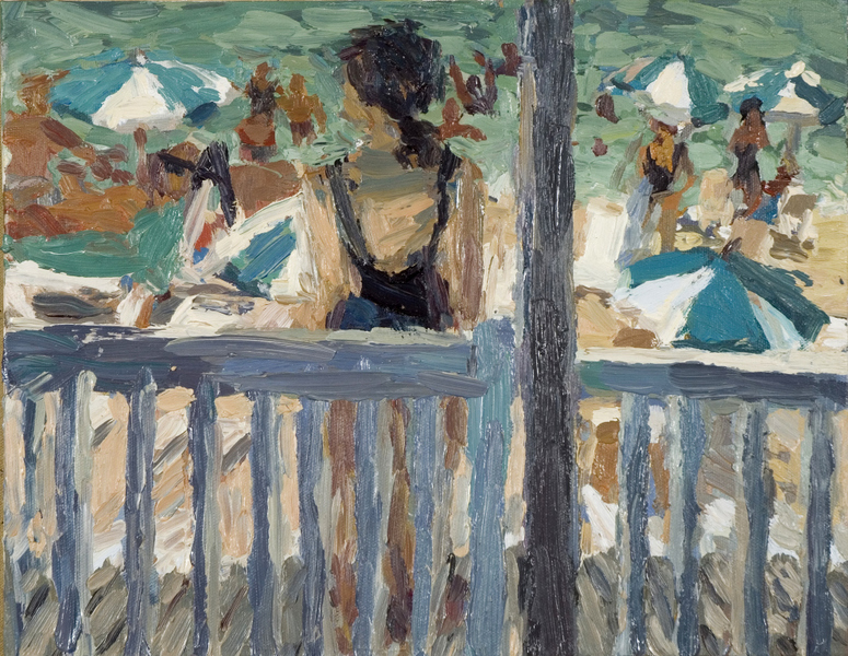 Paintings Woman at the Beach