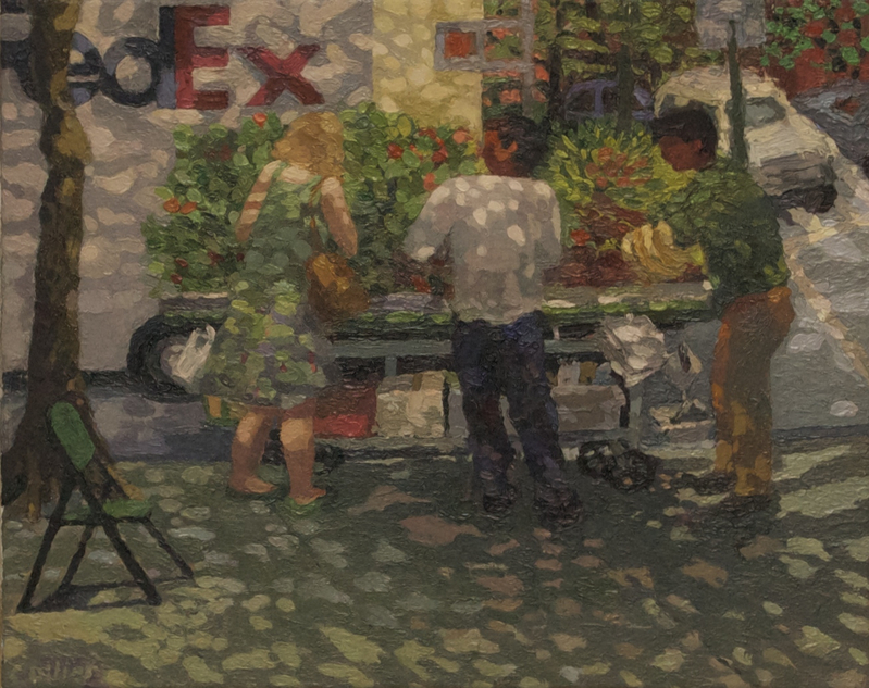 Paintings Veggie Stand with FedEx Truck