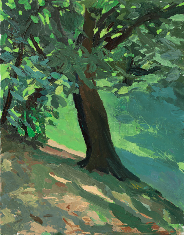 Paintings Leaning Tree