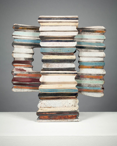S U E   H A V E N S Brick and Mortar Raku fired clay, glaze