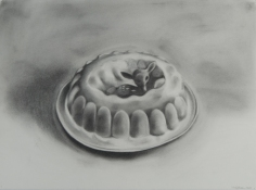 SUE JOHNSON Drawings from the Incredible Edibles Charcoal on paper