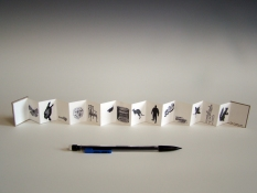SUE JOHNSON Miniature books Archival inkjet prints, cardboard covers