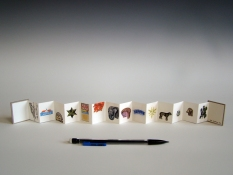 SUE JOHNSON Miniature books Inkjet print, cardboard covers