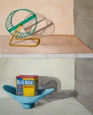 SUE JOHNSON Shelves & Things (2011-12) Gouache and watercolor on paper