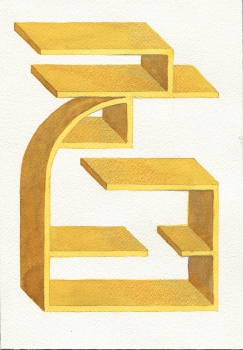 SUE JOHNSON Designs for Imaginary Shelves (2011-13) Watercolor and color pencil on paper