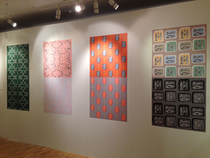 SUE JOHNSON Collecting Patterns, Salisbury and South Wiltshire Museum, Salisbury, England (2013-14) Prints on decals