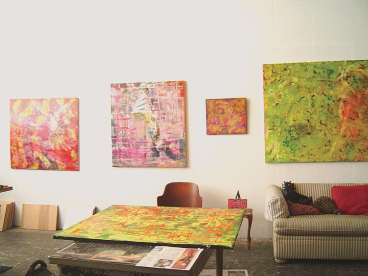 large paintings Dobbin St. Studio. Greenpoint, Brooklyn