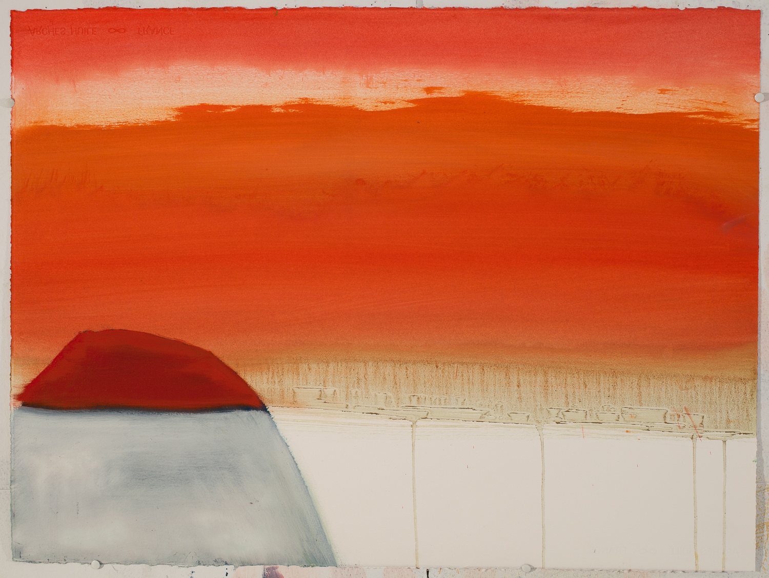 Land Rock Sunset / Oil on Arches l'Huile Paper / 22 inches high by 30 inches wide / 2015