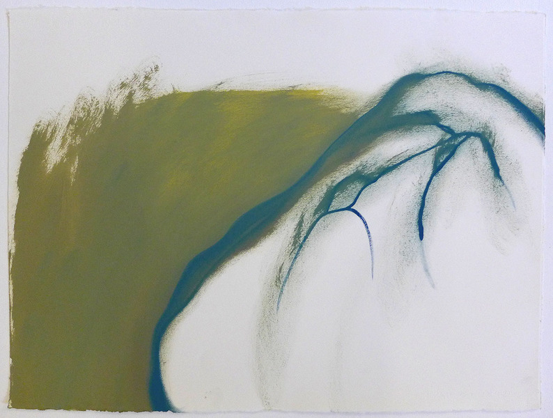 Land Moss-Dull-Rock / Oil on Arches l'Huile Paper / 22 inches high by 30 inches wide / 2014