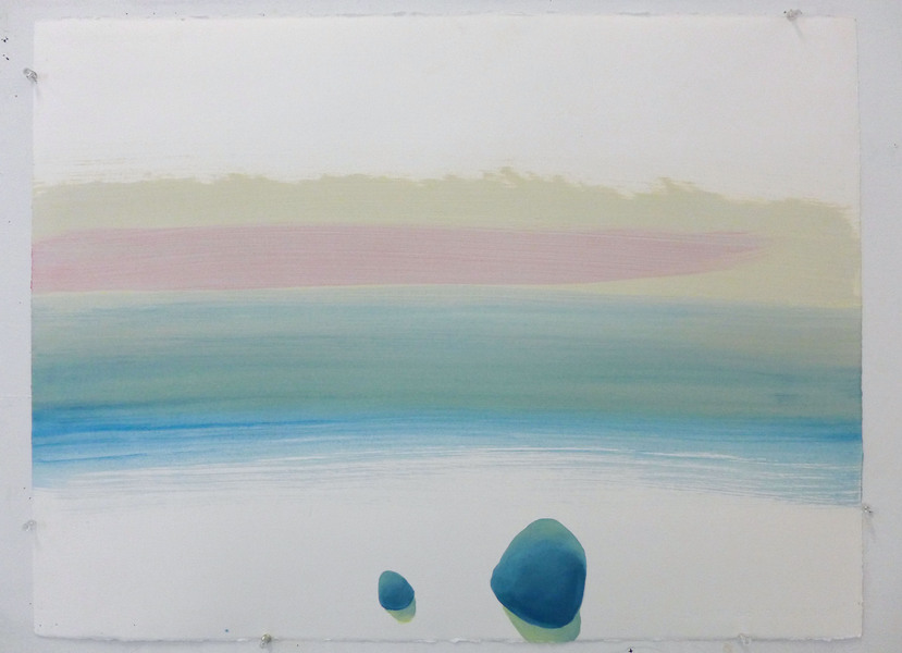 Land Pebble / oil on arches huile paper / 22 inches high by 30 inches wide / 2014