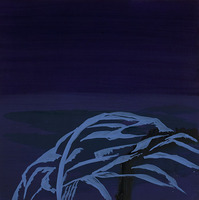 Night Rock / oil on board / 12 inches by 12 inches / 2012 / Private Collection