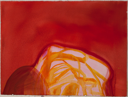 Mound-Rock / Oil on Arches l'Huile Paper / 22 inches high by 30 inches wide / 2014