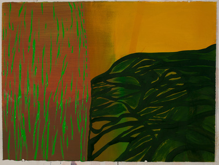Lay Down Tree / oil on arches l'huile paper / 22 inches high by 30 inches wide / 2014