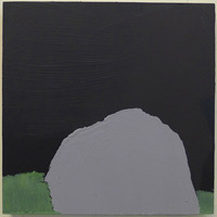 Mound at Dark / oil on wood / 10 inches by 10 inches / 2014