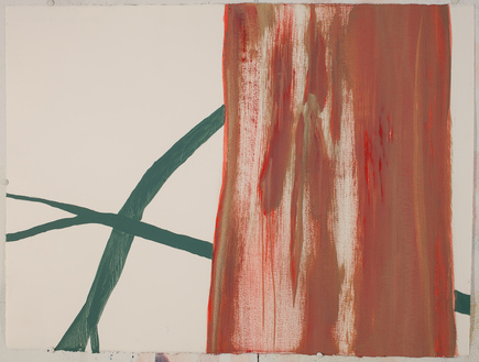 Red Tree New / Oil on Arches l'Huile Paper / 22 inches high by 30 inches wide / 2015
