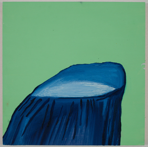 Green Stump / oil on wood / 10 inches by 10 inches / 2013