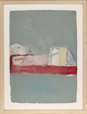 Susan Block Framed Paintings oil on handmade paper