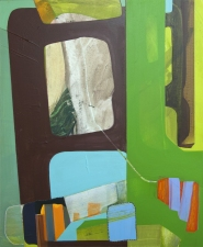 Susan Cantrick 2012-13 acrylic and paper collage on wood panel
