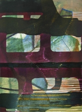 Susan Cantrick 2012-13 ink jet print on acrylic paint on paper