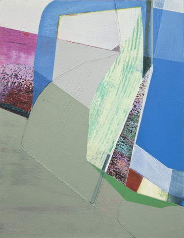 Susan Cantrick 2014-15 acrylic and ink jet print on paper collaged on wood panel