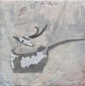 susan freedman 2009-2012 encaustic + paper + ink