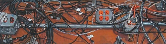 Susan Hamburger - Visual Artist Plugs & Cords gouache on paper