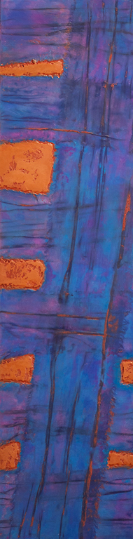 Older Work silk, encaustic