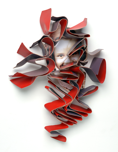 Susan Manspeizer Paper Sculpture series bent wood, paper