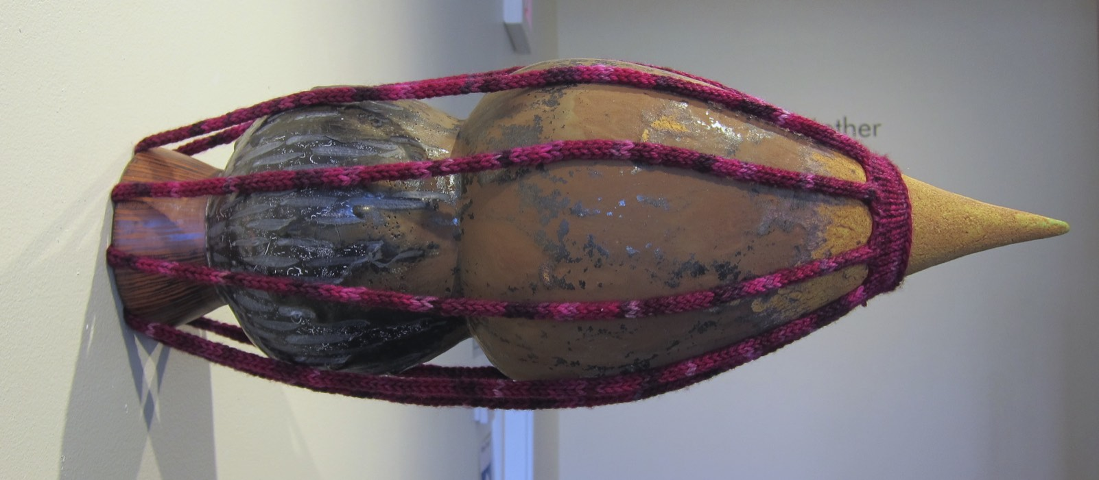 sculpture untitled (brown with purpley pink)