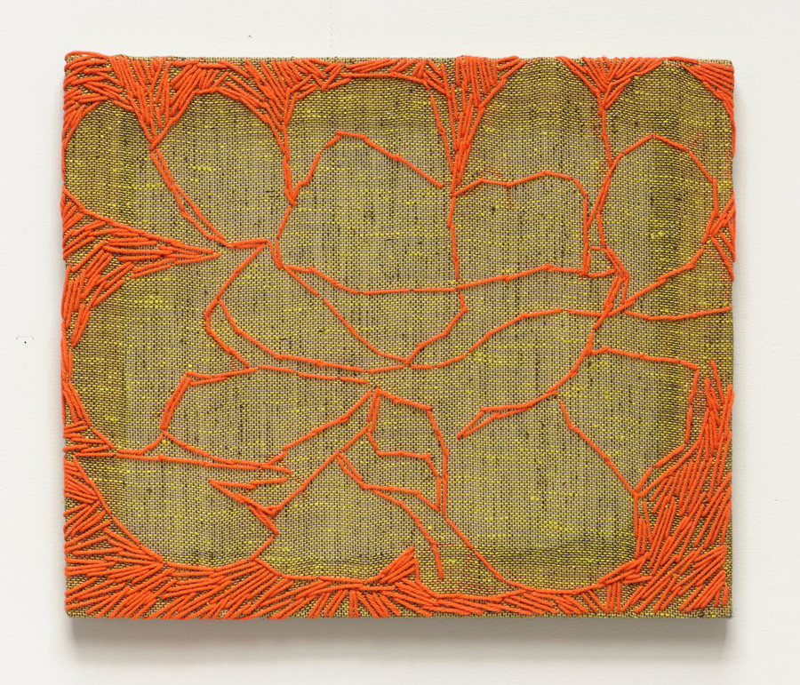 SUSIE REISS Sewn Work yarn on fabric