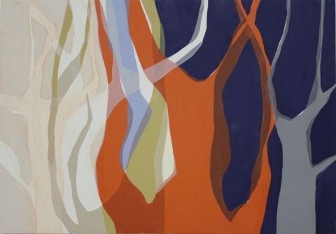 SUSIE REISS Paintings fabric on panel