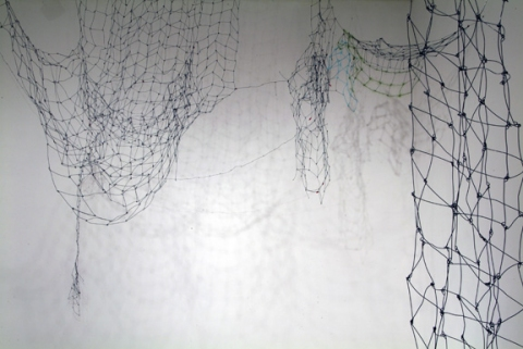 Suzanne Fontaine Shelter steel wire, yarn