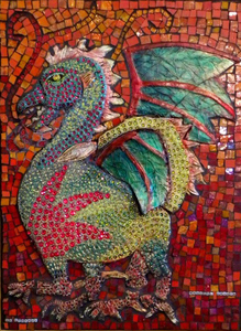 Suzi K. Edwards Animals of The Chinese Zodiac Porcelain, underglazes, glazes, swarovski crystals and glass mosaics
