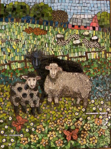 Suzi K. Edwards Animals of The Chinese Zodiac Porcelain, underglazes, pearls, millifiore, glass mosaics