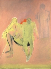 Sylvia Sherwin Goldberg Figures oil on canvas paper
