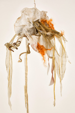 Sylvia Vander Sluis Fiber Work Fiber and fabric over wire mesh