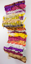 Sylvia Vander Sluis Fiber Work Handwoven fabric over wire mesh