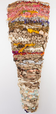 Sylvia Vander Sluis Fiber Work Handwoven fabric and yarn over mesh
