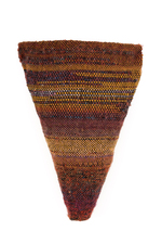 Sylvia Vander Sluis Fiber Work Handwoven wool, beads over mesh