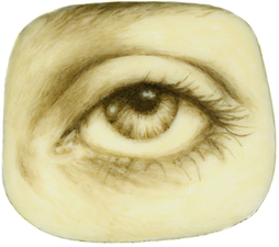 Tabitha Vevers Lover's Eye (early) Oil on Ivorine