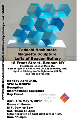 TADASHI HASHIMOTO international sculpture day 4/24: event, 5pm to 8:30pm