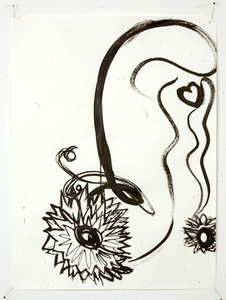 Drawing Sumi ink on paper