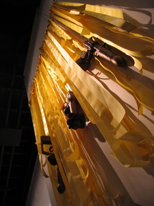 Installation Polyester resin, ribbon, mixed media
