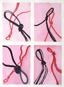 """Knots"" watercolor ans sumi ink on paper"