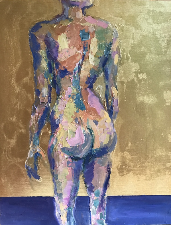TAMMY FLYNN SEYBOLD Figurative Oil and gold leaf on panel