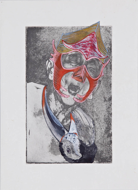 Tammy Nguyen Works on Paper photo intaglio and gouache on paper