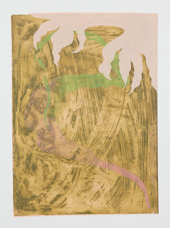 Tammy Nguyen Works on Paper intaglio with chine-collé and colored pencil on paper